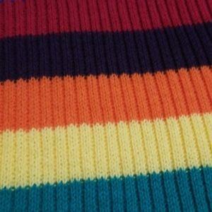 Nasty Gal Tops - Nasty Gal Rainbow Stripe Knit Top
